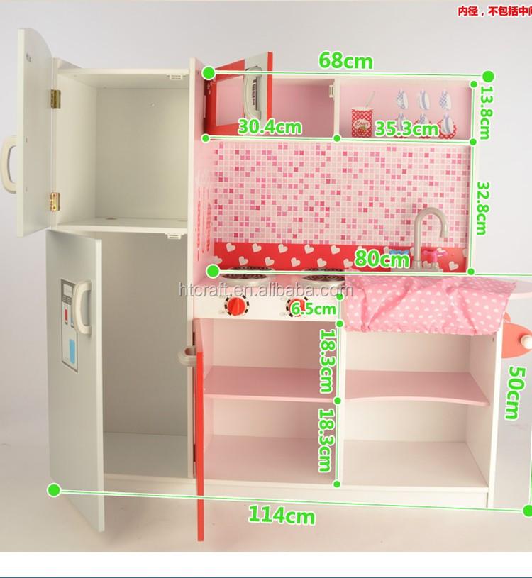 100 Cm Tinggi Kayu Anak Anak Bermain Penyimpanan Dapur Dengan Besar