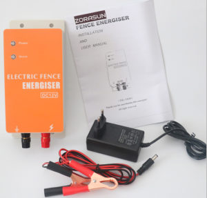 12V electrical battery power solar electric horses fence energiser for farm fence