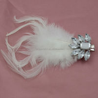 White feather hair accessory kid hair accessory
