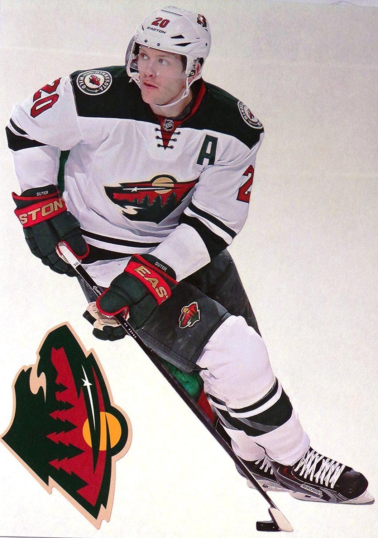 "Ryan Suter Mini FATHEAD + Minnesota Wild Logo Official NHL Vinyl Wall Graphic 7"" INCH"