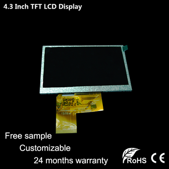 [Free Sample]Topfoison original new 4.3 inch touch small tft color square lcd monitor for Car DVR