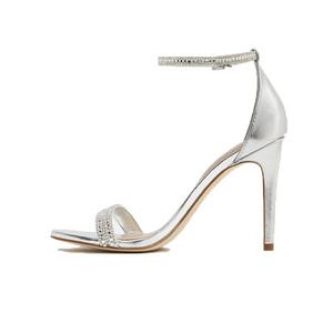 833ca64162c Silver Diamond High Heel Shoes