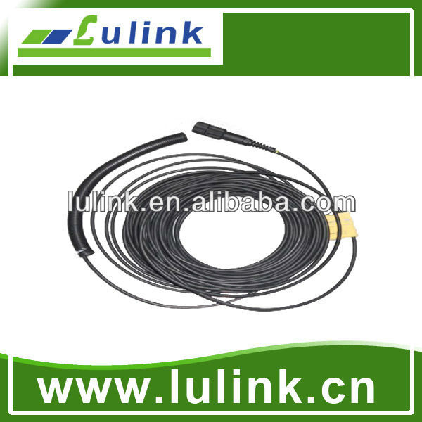 Double core circular 7.0 Armored fiber optic jumper with LSZH cable
