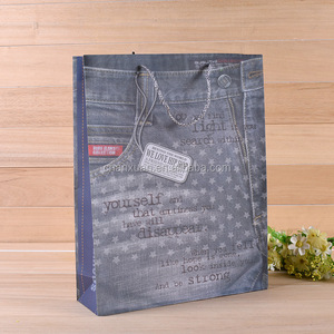 cowboy Jean print cloth plastic shopping bag