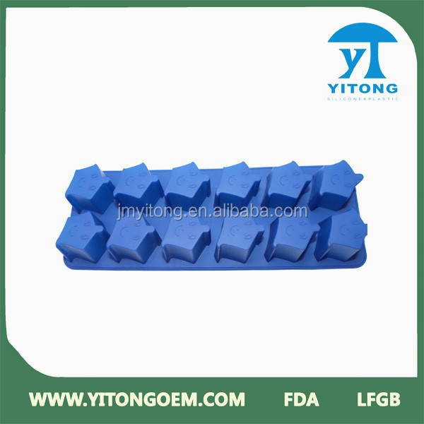 food grade Fanny style blue starfish blue starfish ice cube tray silicone&silicone ice mould trays