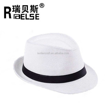8f6f90dc698ba cheap wholesale plain white panama hat unisex men women paper straw fedora  hat