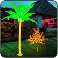 Christmas Artificial Decorative Led Light Coconut Tree