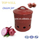 Blue Glaze Ceramic Onion Potato Garlic Storage Jar