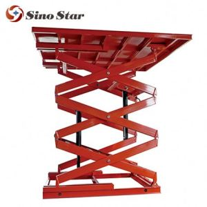 Full electric self-propelled hydraulic man lift 4m scissor lift platform price