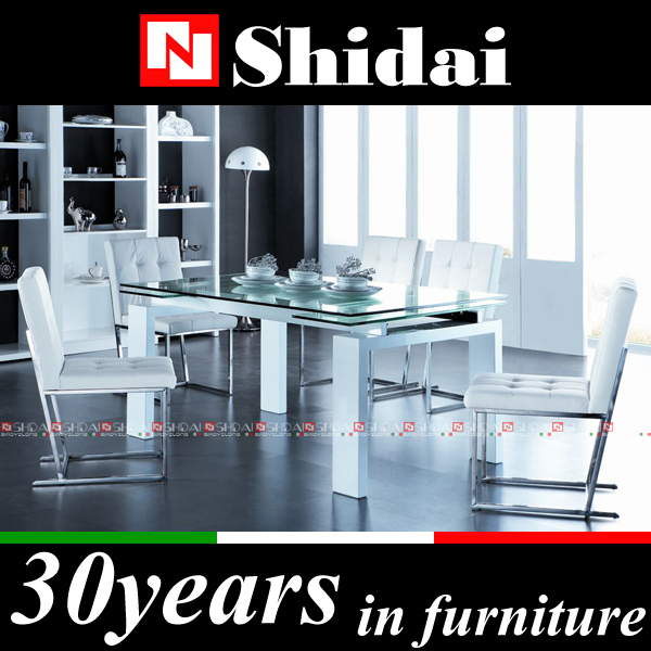 a-19 사진을 현대적인 식탁/ 나무 식당 유리 상단과 테이블 디자인 ...