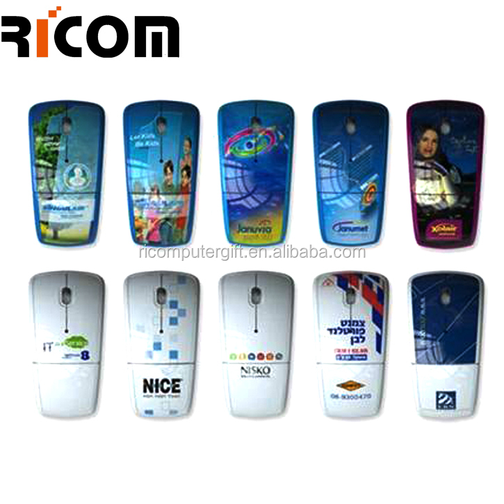 wireless water transfer mouse,full printing foldable mouse,colorful foldable mouse--MW8013--Shenzhen Ricom