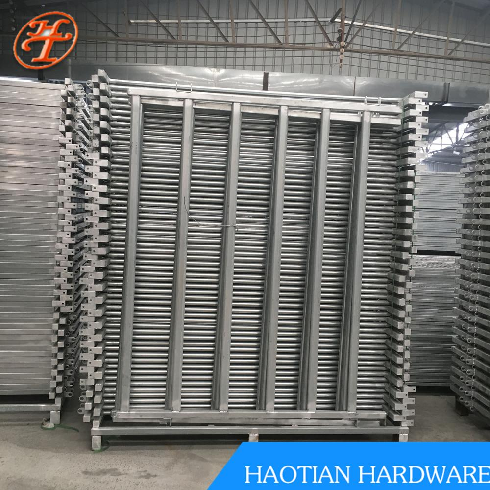 6ft high 8/10/12/ft wide 32mm OD pipe 6-rail heavy duty galvanized steel metal ranch cattle panel and gate