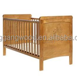 Wholesale Custom Cheapest Design Hot Sale Wooden Kid Furniture European Standard Baby Folding Crib Cot