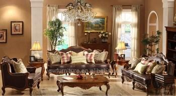 Italian Leather New Design Sofa Furniture With Wood Trim A25