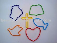 Shaped rubber bands,silicone rubber bands-Faith(SAB-005)