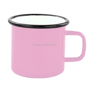 Hot Selling custom 350ml/12oz Friend red porcelain enamel Drinking mug