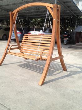 Wooden Swing Bench Seat Wooden Swing Set Hammock Chair Garden 2