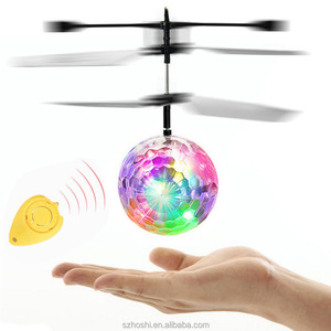Christmas toy LED Flash FlyIing Ball Helicopter With Sensor Colorful Flash Disco ball Remote Control Toy As Gift