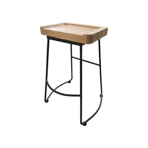 Astounding Black Metal Legs Rustic Counter Stools Bar Stool With Wooden Seat Ibusinesslaw Wood Chair Design Ideas Ibusinesslaworg