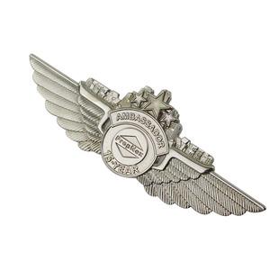 Hard Enamel Custom Metal Pilot Wings Pin Badge