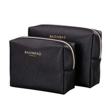 Eco saffiano PU leather cosmetic bag small 메이 컵 bags 와 logo 스탬핑