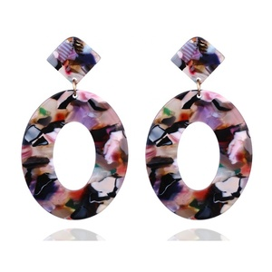 Shihan SH1191 Dangles Acetic Acid Plate Tortoiseshell Textured Decorative Hollow Earrings Beautiful Fashion Jewelry