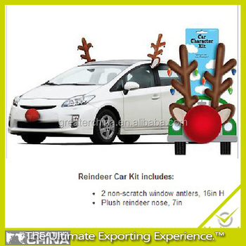 Reindeer Antlers And Nose Car Decoration Christmas Dress Up