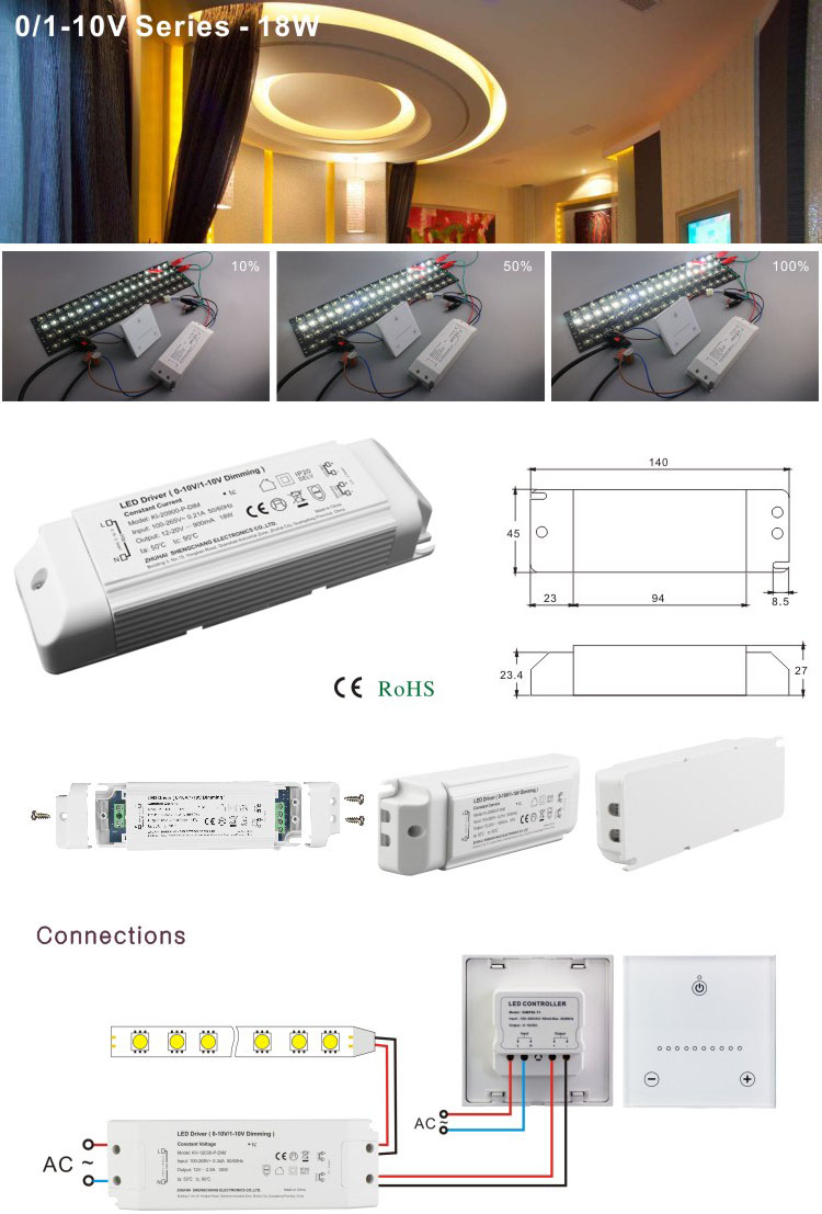 20W DIP adjustment 10V PWM dimming dimmable constant current 600ma LED driver