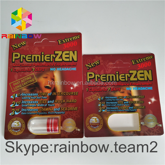3D Premier Zen Dispaly Boxes / Paper Box and Blister for Sex Enhancement