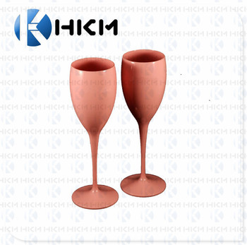 New design unbreakable pink wine glasses, cheap plastic champagne flutes.
