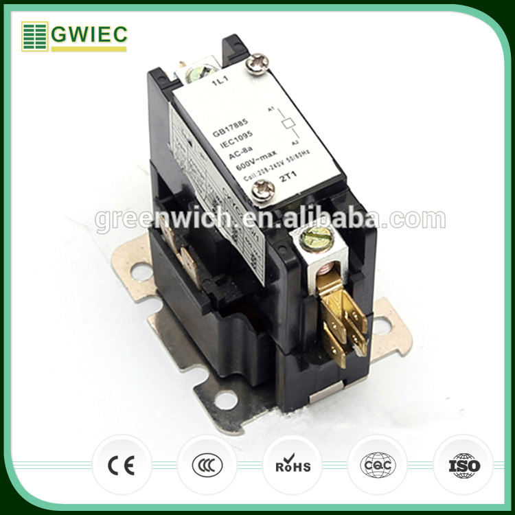 GWIEC China Online Selling 25A 2 Pole Definite Purpose Contactor Single Phase 24V Coil Ac Contactor