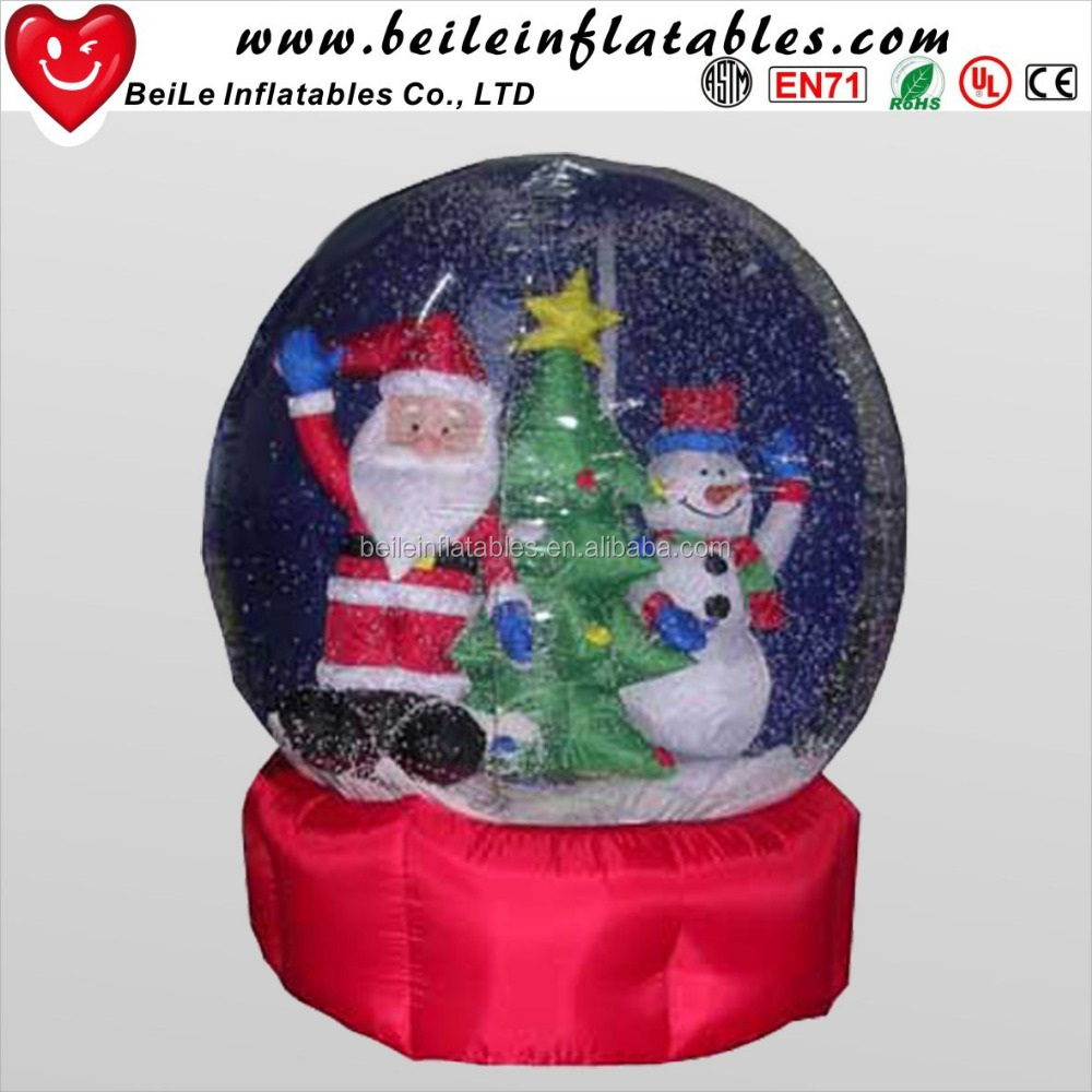 Large snow globes and Transparent <strong>inflatable</strong> Christmas snow globes and advertising human <strong>inflatable</strong>
