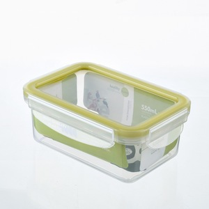 PUYE 550ml Rectangle Plastic Food Container/Lunch Box with TPE Sealing Ring
