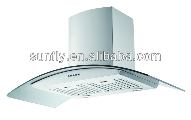 Angled cooker hood 80 cm carbon filters