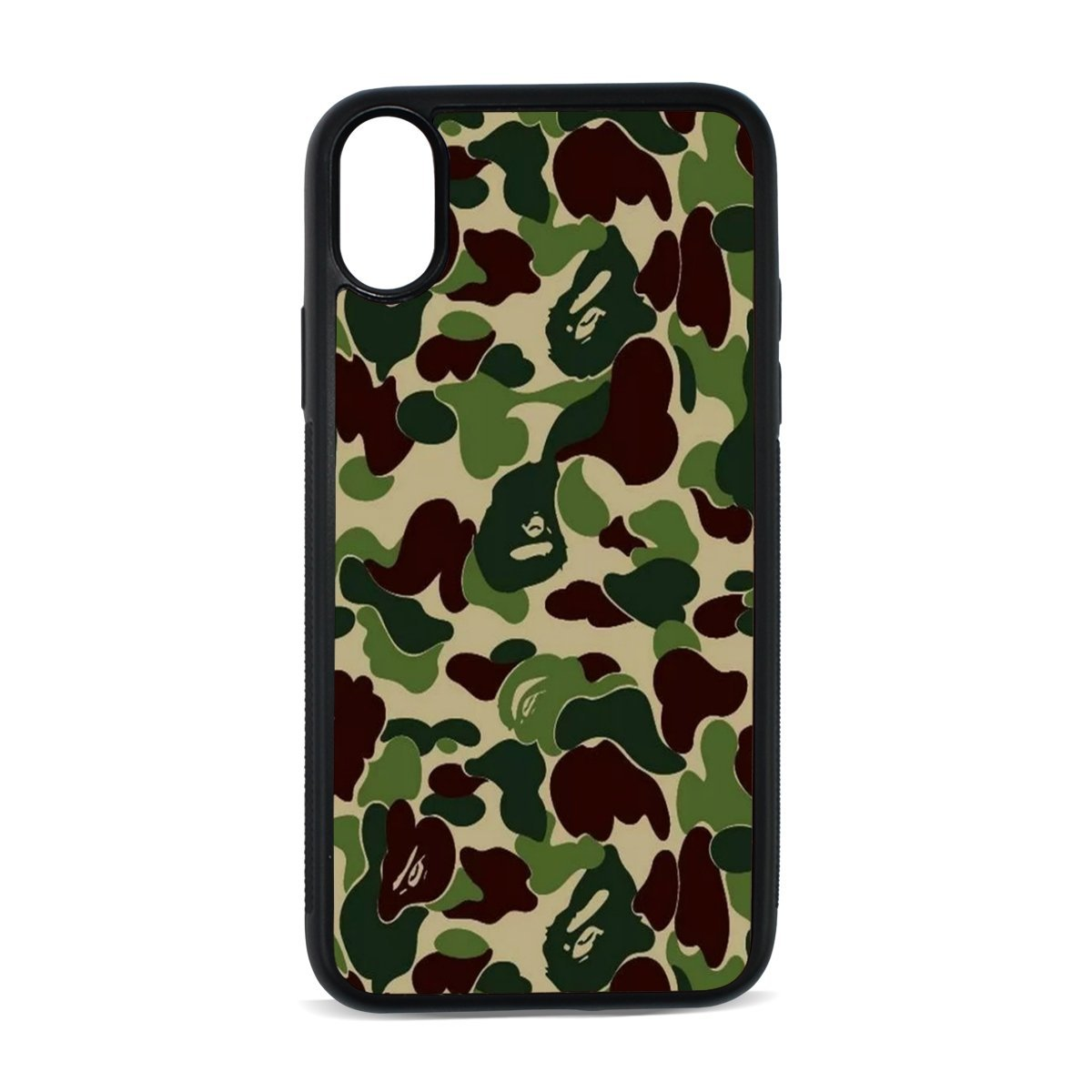 Brisper Camouflage Pattern IphoneX Case Black Rubber Mobile Phone Protective Shell