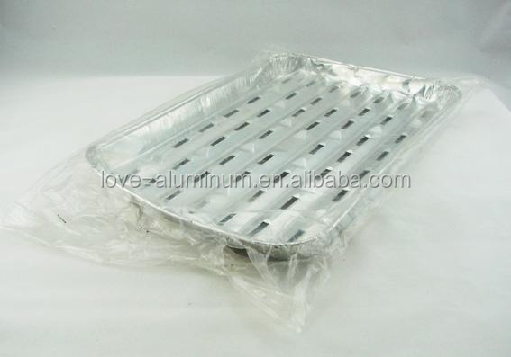 Perforated Bbq Indoor Alloy 8011 Aluminium Foil Grill Tray