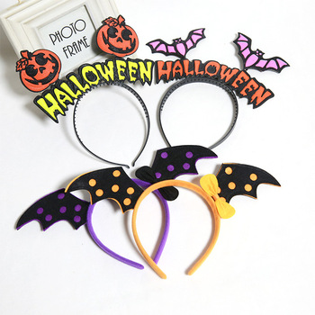 Lipan-Halloween Headband Witch Hat Hair Hoop Headpiece for Halloween Costume Party Headwear