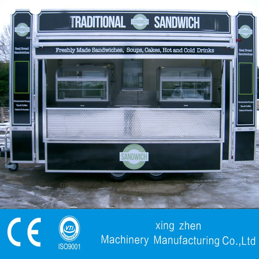 The best selling mobile kitchen truck with CE