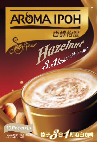 Aroma Ipoh White Coffee 3 in 1 - Hazelnut