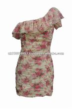 ruched sifon dress floral
