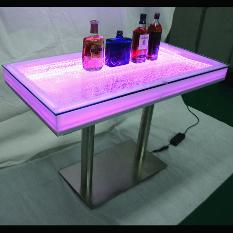 glowing water bubble tabletop led bar counter bar table night club furniture