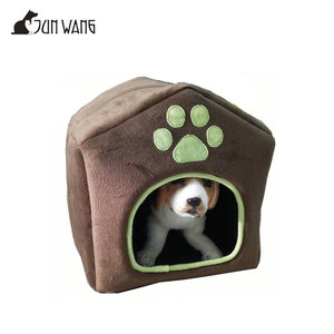 2018 Multi-functional Luxury Super Soft Plush Indoor Cat Bed House Dog Pet House