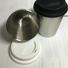 Stainless Steel Double Coffee Cup Insulated Mug Tumbler Cup With Silicone Lid