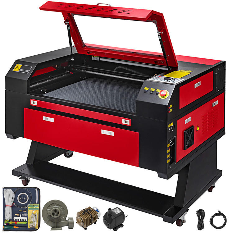 laser engraver 80W CO2 Laser Engraving Machine Engraver Cutter With Auxiliary Rotary Device co2 laser engraver