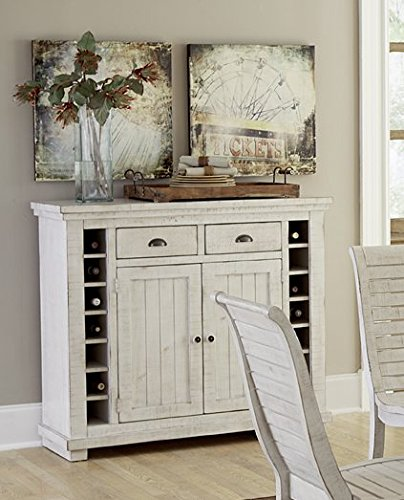 Get Quotations · Progressive Furniture Willow Distressed White Server,  Distressed White