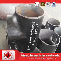 black sch40 carbon steel seamless tee & reducer ASTM A234 WPB for oil/gas