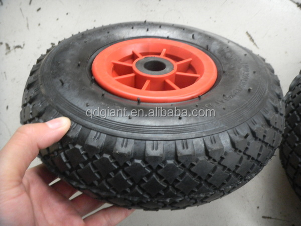 "10"" air tyre with plastic rim for trolley"