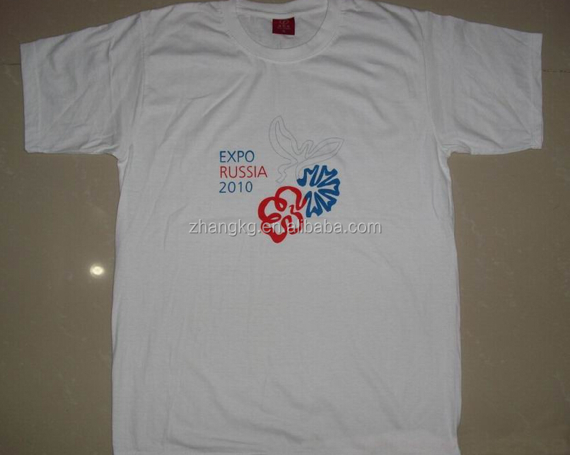 Custom screen printing t shirt ,rib collar promotional t shirt with screen printing