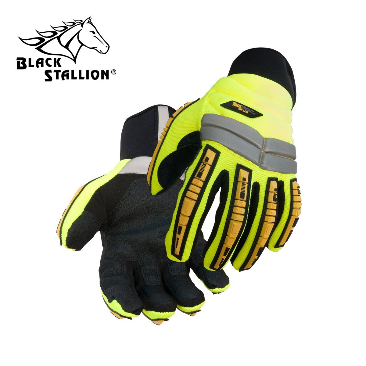 REVCO BLACK STALLION - GX108 TOOLHANDZ SYNTHETIC LEATHER IMPACT MECHANIC'S GLOVES - SIZE: LARGE - CASE OF: 120 PAIR