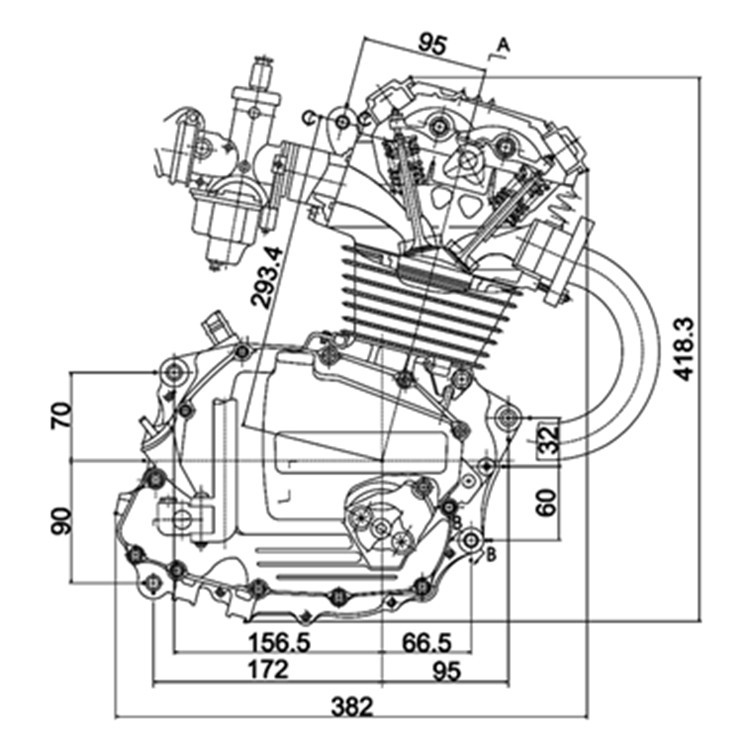 Motorcycle Parts In Delaware Mail: Motorcycle Part For Honda Cg125 125cc Motorcycle Engine